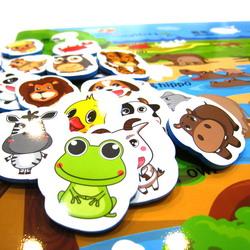 DIS01貼貼樂-動物+水果