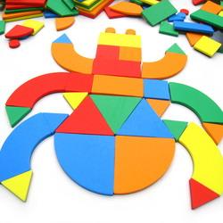 PZ14五色幾何拼圖