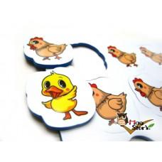 MA25小雞小鴨數數磁鐵